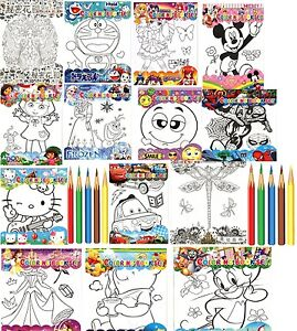 Image Is Loading Kids Colouring Book With Pencils