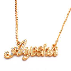 Cadeaux pour elle Identité Arabe Musulman KHADIJA Collier Prénom 18K Plaqué or