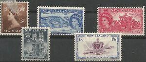 New-Zeland-Minr-322-326-Clean-Mint
