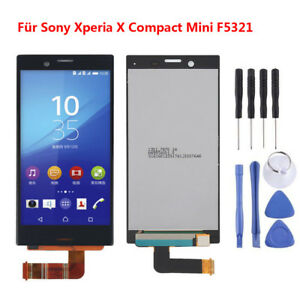 Schwarz-Fuer-Sony-Xperia-X-Compact-Mini-F5321-LCD-Display-Touch-Screen-ARDE