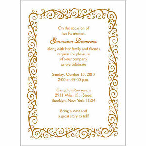 Image Is Loading 25 Personalized Retirement Party Invitations  RPIT 04 Decorative