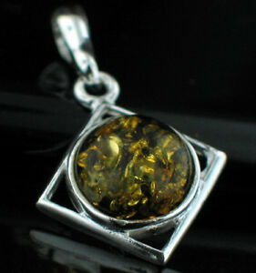 GORGEOUS NATURAL BALTIC AMBER 925 STERLING SILVER PENDANT