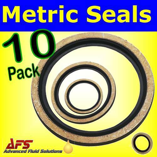 10 x M22 22mm METRIC Bonded Dowty Seal Self Centering Hydraulic Oil Seal Washer