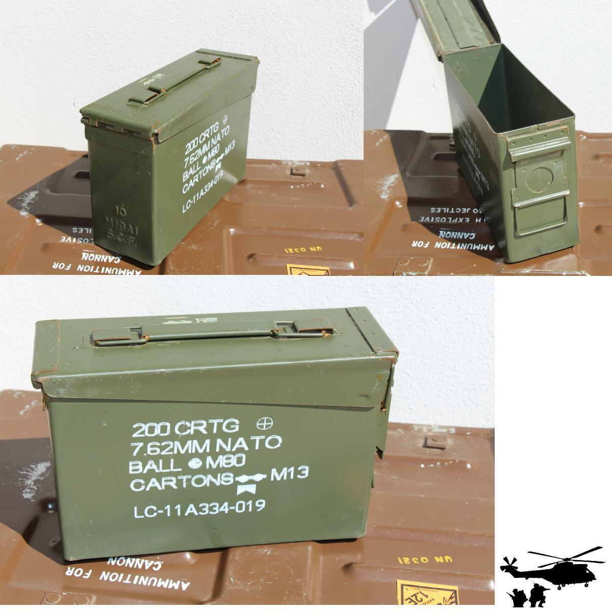 4 X  US ARMY Munitionskiste Transportkiste  Metallkiste Metallbox Munikiste gr.1