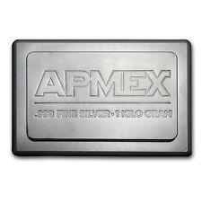 1 Kilo APMEX Silver Bar - Stackable Silver Bar - SKU #51412