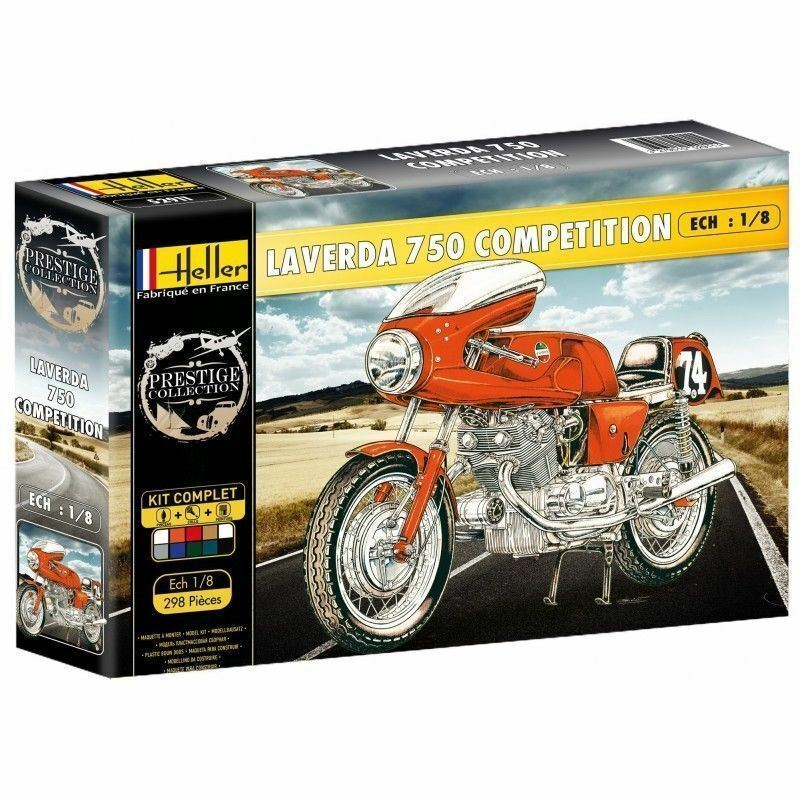 Heller 52911G 1 8th scale Gift Set Laverda 750 SFC Competition Racing Motorbike
