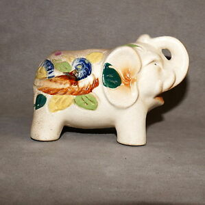 Vase-MID-CENTURY-Ceramic-Vase-Vintage-Elephant-Occupied-Japan-5-034-USA-SELLER