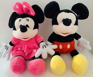 Disney-Minnie-amp-Mickey-Mouse-Lot-X-2-Plush-Toy-Bear-Doll-Sitting