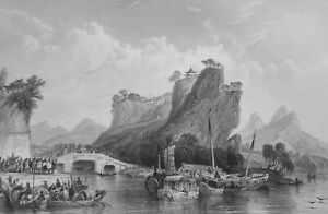 CHINA-Rock-of-Views-in-Keang-nan-Province-1840-Antique-Print-T-Allom