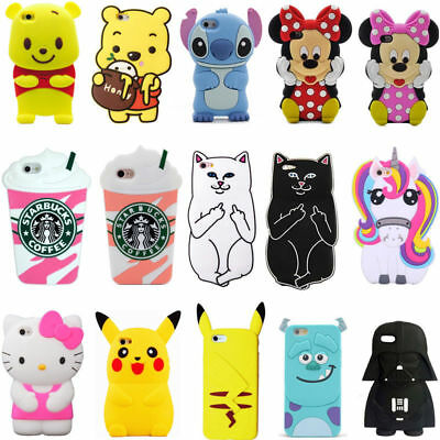 IPHONE 5 5s 4 4s 5c 3d animal cases silicone covers also for iPod