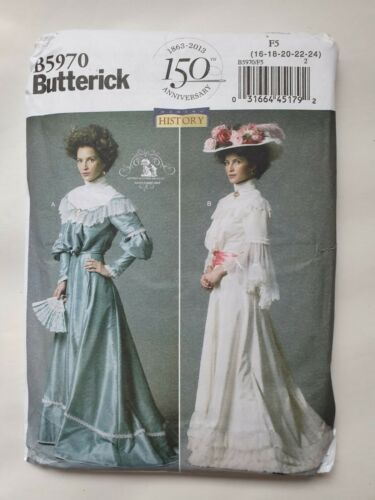 16-18-20-22-24 misses top Butterick sewing pattern B5970 F5 skirt and belt