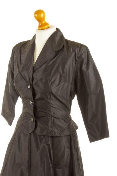 % Sale% Vintage 50er Seiden Taft Blazer Chaqueta Rockabella Hepcat Ovp Unworn 34 36-ver