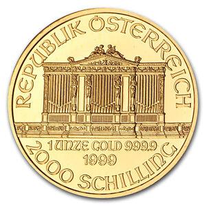 1999-Austria-1-oz-Gold-Philharmonic-BU-SKU-74672