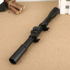 Compact Tactical Air Rifle Gun 4X20 Optics Sniper Scope Sight 11mm Rail Mount