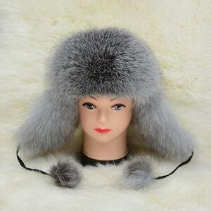 ab5ccadf65302 2019 Top Warm Hat New Real Fox Fur Cap Winter Earflap Women Men ...