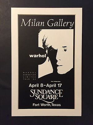 Andy Warhol Limited Exhibition Tour 1994 Milan Gallery Fort Worth Texas Sundance Ebay