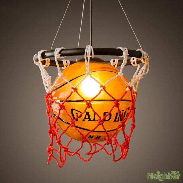 Vintage Basketball Pendant Light Acrylic Ceiling Lamp Retro ...