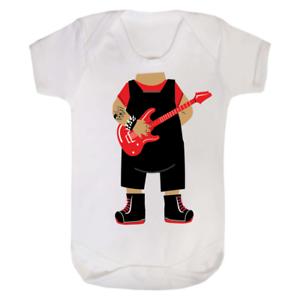 Baby Rock Star Head Babygrow Baby Grow Babysuit vest Funny Gift Newborn Punk Boy