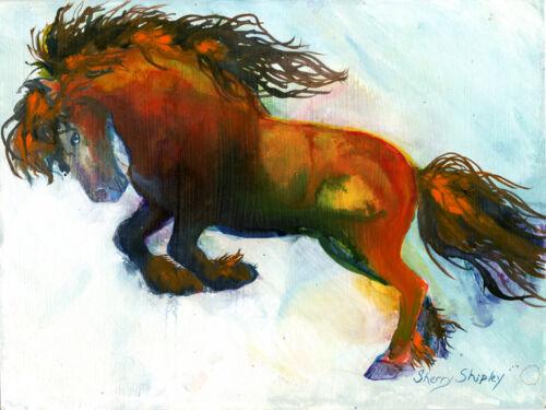 POWER 8x10 HORSE  print by Artist Sherry Shipley