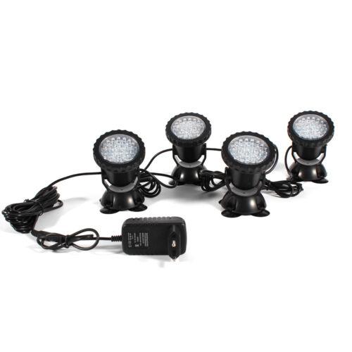 4x Tauch 36 LED Teich Spot Lichter für Unterwasser Pool Brunnen 12V Lampe DE