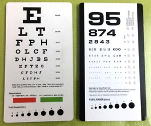 Image Is Loading Snellen And Rosenbaum Pocket Eye Chart Pack Of