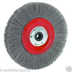 8 Quot Inch Round Steel Wire Brush Wheel For Bench Grinder Ebay