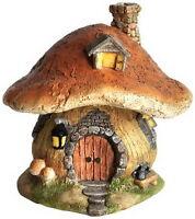 Dollhouse Miniature Fairy Gnome Hobbit Cottage House Outdoor Garden Decor