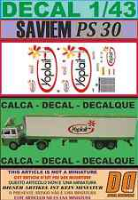 DECAL 1/43 SAVIEM PS30 TRAILER FRIGO YOPLAIT (03)