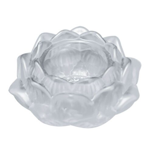 Colourful Crystal Glass Lotus Flower Candle Tea Light Holder Candlestick Decor