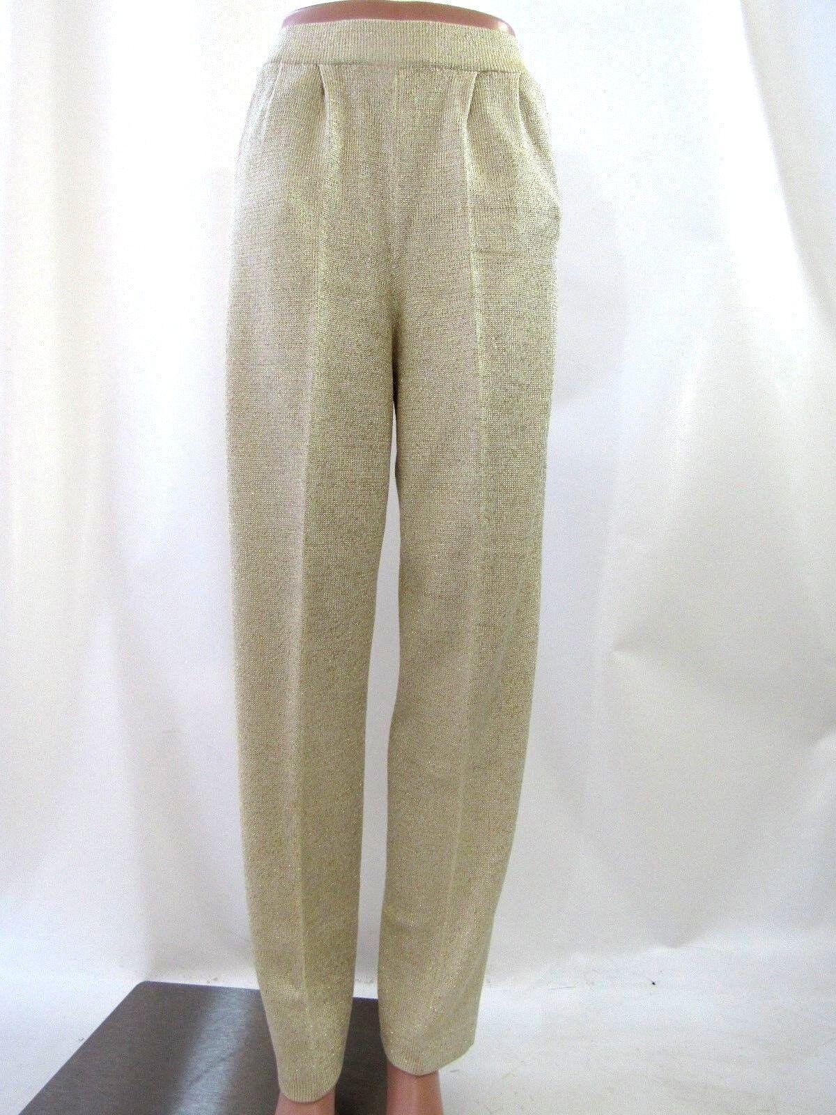 Emporio Armani Gold Santana Knit Pants Größe 6