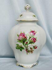 Tolle Deckel Vase,Moosrose,Lindner Porzellan,Handarbeit,Neu,Topzustand