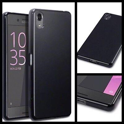 Apple Iphone 8 Custodia Cover Flexi-gel Nero & Proteggi Schermo Spedizione Gratuita-