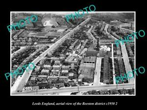 OLD-LARGE-HISTORIC-PHOTO-LEEDS-ENGLAND-AERIAL-VIEW-OF-BEESTON-DISTRICT-c1950-3