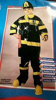 7 Pc Young America Hero Firefighter Costume Rubies 38821 Boys 12-14 Large Bin124