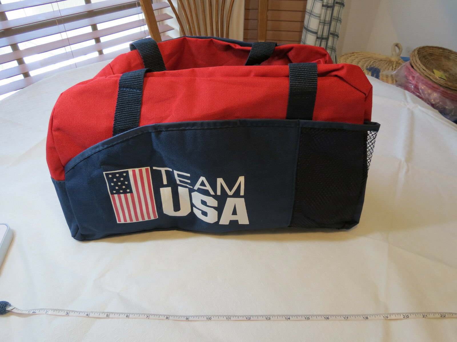 Team USA Olympic Promotional navy Products RARE navy Promotional canvas PDA1077 sport bag NEW 112e8f