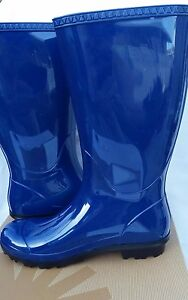 371c944ff32 Details about Women's UGG Shaye Rain Boots Blue Jay Size 9 Brand New 1012350