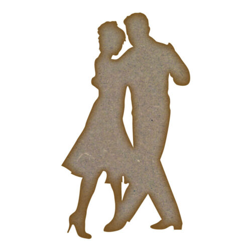 Dancing Couple MDF Laser Cut Craft Blanks in Various Sizes