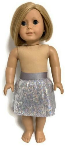 Silver Sequin Skirt made for 18 inch American Girl Doll Clothes