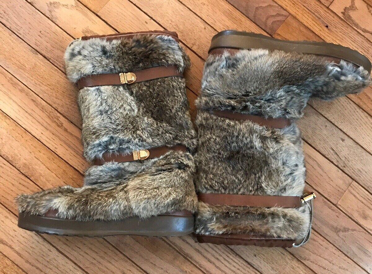 ultimi stili Tory Burch Fur stivali Dimensione 10-10.5 Marrone Marrone Marrone Excellent  spedizione e scambi gratuiti.