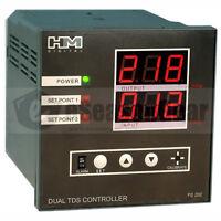 Hm Ps-202 Panel Mount Dual Display Tds Ppm Controller With Sensors, 110v/220v