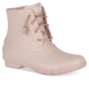 3113121bfe7 SPERRY Top-Sider Canvas Women s Saltwater Flood Duck Booties Rose ...
