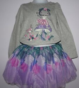 NWT GYMBOREE WOODLAND WEEKEND SET FLORAL TUTU SKIRT FOREST FAIRY TEE TOP SIZE 3T