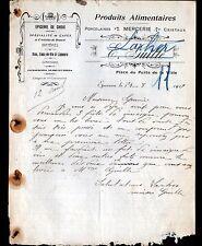 """EPERNON (28) EPICERIE PORCELAINES MERCERIE """"E. GUILLE & LARHER"""" en 1919"""