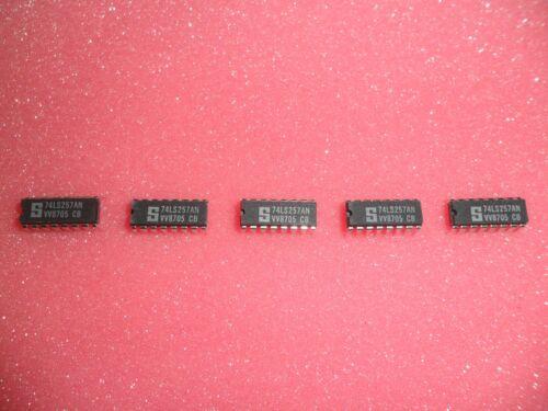 LOT OF 5 74LS257 74LS257AN IC LOGIC QUAD 2 INPUT 16 PIN DIP