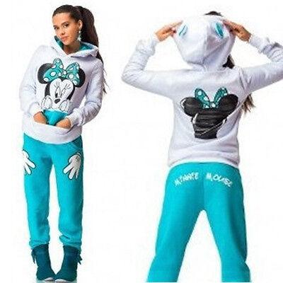 NEW 2Pcs Womens Hoodies Sport Tops & Pants Tracksuit Sweatshirt Sweat Suits Set