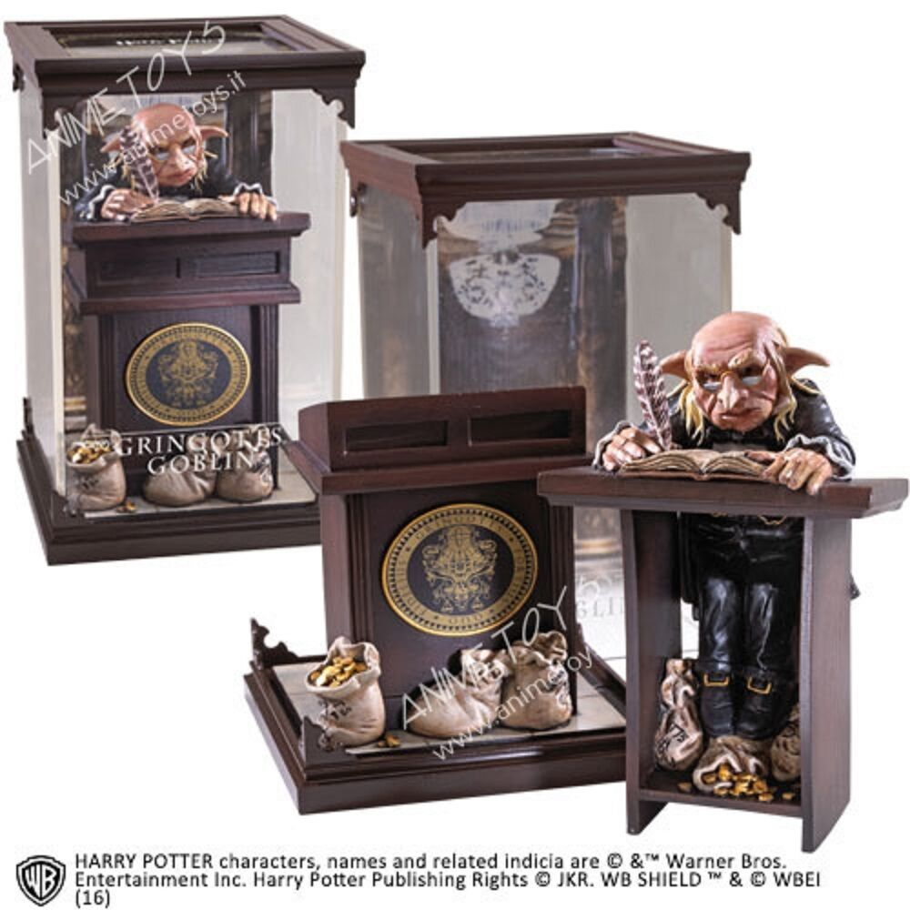 HARRY POTTER MAGICAL CREATURES GRINGOTTS GOBLIN  STATUE NOBLE COLLECTION
