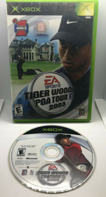 Tiger Woods PGA Tour 2003 - Golf -Case and Disc - Tested & Works - Original Xbox