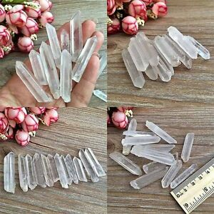 5Pcs-Natural-Clear-Point-Quartz-White-Crystal-Raw-Stone-Terminated-Wand-Specimen