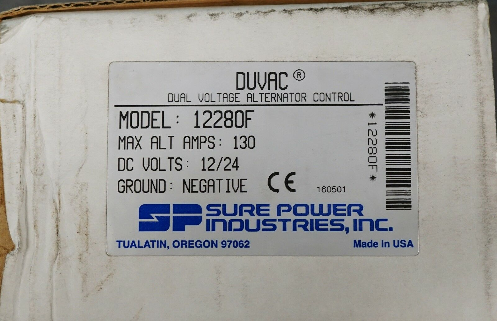 sure power 12280f duvac dual voltage alternator regulator control freightliner Chrysler Alternator Wiring