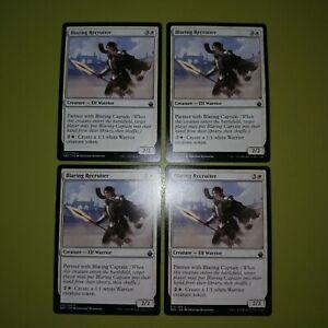 Blaring-Recruiter-x4-Battlebond-4x-Playset-Magic-the-Gathering-MTG